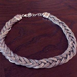 Brighton Silver Woven Necklace